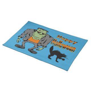 Monstruo de Halloween   gato negro Placemats Mantel Individual de