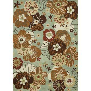 Hand tufted Leighton Blue Wool Rug (7'6 x 9'6) Alexander Home 7x9   10x14 Rugs