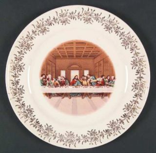 Sanders LordS Supper (Smooth) Dinner Plate, Fine China Dinnerware   Portrait Ce