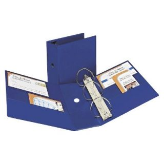 Avery Durable Binder with Two Booster EZD Rings, 5 Capacity   Navy Blue