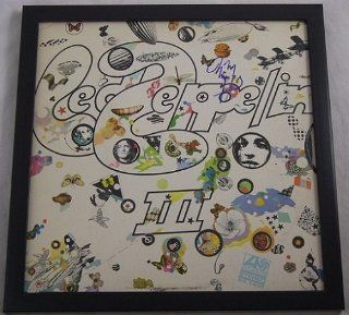 Jimmy Page Led Zeppelin III Signed Autographed Lp Record Album Vinyl Framed Loa: Entertainment Collectibles