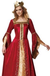 HGM International Medieval Queen Renaissance Fair Womens Halloween Costume XL: Adult Sized Costumes: Clothing