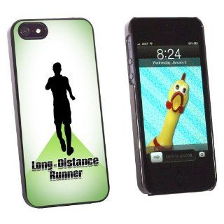 Graphics and More Long Distance Cross Country Running   Runner Man Snap On Hard Protective Case for Apple iPhone 5/5s   Non Retail Packaging   Black: Cell Phones & Accessories