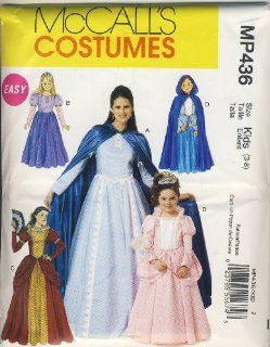 McCall Sewing Pattern MP436 (M6420)   Use to Make   Easy Kids Renaissance / Medieval / Princess Costumes   Sizes 3 8