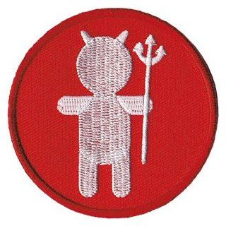 Novelty Iron On Patch   Angels & Devils   Devil Silhouette   Logo Patch   Applique Clothing
