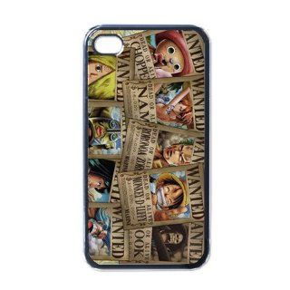 One Piece Manga Anime Niche Custom iPhone 4/4s Case Cover Design3 Cell Phones & Accessories