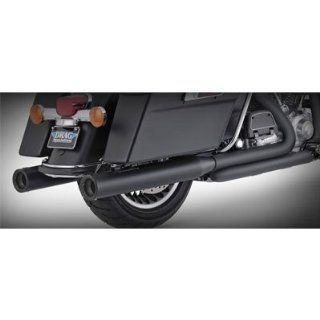 Vance & Hines 46751 4 Blackout Round Slip On Mufflers For Harley Davidson Touring Automotive