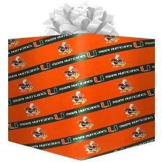 NCAA Miami Hurricanes Logo Gift Wrap Paper   Orange   Ornament Hanging Stands