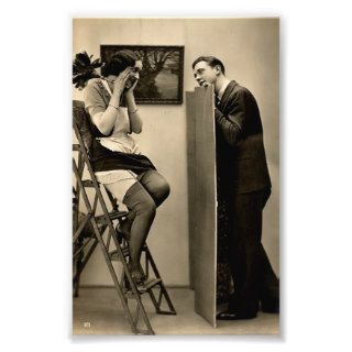 Vintage Naughty French Pin Up Girl Photograph