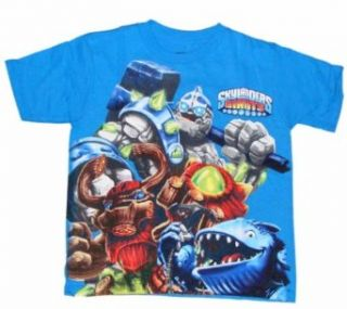 Skylanders Giants New Character Trio Boys T shirt (Turquoise, XL (14/16)) Clothing
