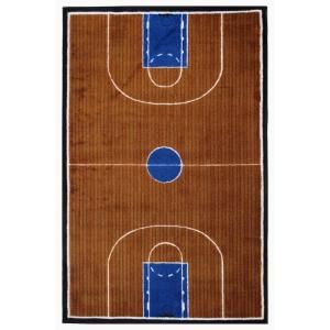 LA Rug Inc. Supreme Basketball Court Multi Colored 5 ft. 3 in. x 7 ft. 6 in. Area Rug TSC 152 5376