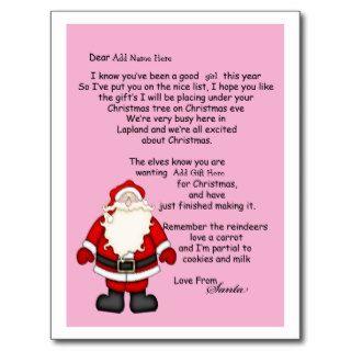 Letter Santa Postcard