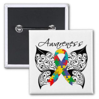 Tattoo Butterfly Awareness   Autism Pin