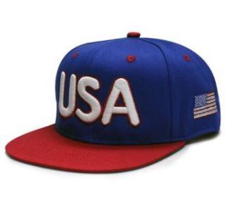 City Hunter U.S.A Glow in the Dark Snapback Caps (Royal/red) at  Men�s Clothing store: Baseball Caps