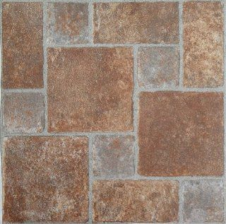 Achim Home Furnishings FTVGM33220 Nexus 12 Inch Vinyl Tile, Geo Brick Pavers, 20 Pack   Vinyl Floor Coverings