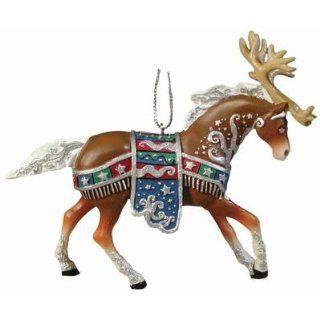 Painted Ponies Reindeer Roundup Horse Ornament   Toy Figures