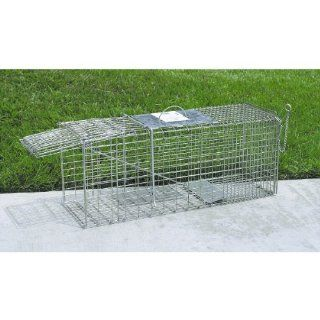 "JT Eaton 485 Answer Galvanized Steel Wire Single Door Professional Live Animal Cage Trap, 32"" Length x 12"" Width x 10"" Depth: Industrial & Scientific"