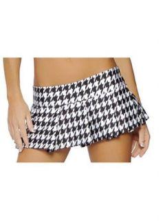 Houndstooth School Sexy Girl Pleated Mini Skirt   MEDIUM/LARGE Clothing