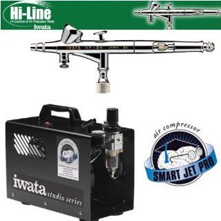 Iwata Hi Line HP BH Airbrushing System with Smart Jet Pro Air Compressor