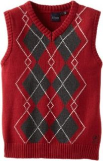 Izod Kids Boys 2 7 Argyle Sweater Vest, Permanent Red, X Large Clothing