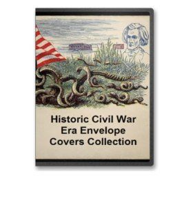 Civil War Envelope Collection on CD   495 Examples of Civil War Postal Art  Other Products