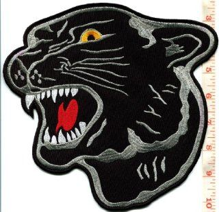 Black Panther Cat Puma Jaguar Leopard Iron on Huge Xl Patch 8.13 X 8.5 in S 501 Handmade Design From Thailand: Everything Else