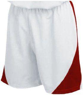 Teamwork Women Girls Tsunami Cool Mesh Shorts 523 WHITE/CARDINAL WS  Baseball And Softball Shorts  Sports & Outdoors