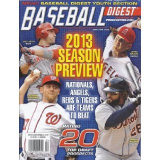 Baseball Digest Magazine (March/April 2013 (2013 Season Preview)): Bob Kuenster: Books