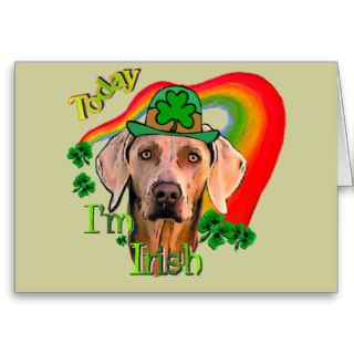 Weimaraner St. Patrick's Day Greeting Cards