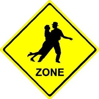 """8""""x8"""" aluminum metal Couple Dance ZONE. Crossing zone novelty sign  Yard Signs  Patio, Lawn & Garden"""