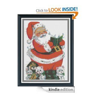 Kittens, Puppies, andSanta Counted Cross Stitch Pattern eBook: Fox and Crow Design: Kindle Store