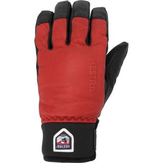 HESTRA Alpine Touch Gloves   Size: 7, Red/black
