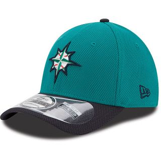 NEW ERA Mens Seattle Mariners Two Tone Diamond Era 39THIRTY Stretch Fit Cap