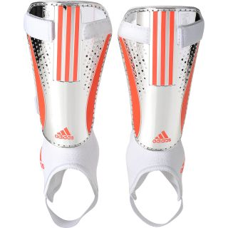 adidas 11Pro Chrome Shin Guards   Size Large, Silver/red