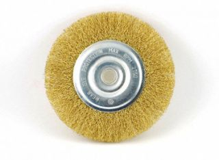 6 Brass Crimped Wire Wheel Brush
