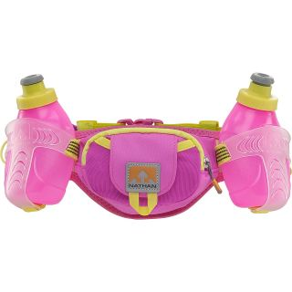 NATHAN Trail Mix Water Bottles and Belt, Fuchsia