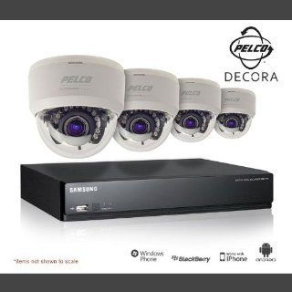 Pelco Decora Line Indoor Mini Dome 4 Camera Surveillance Kit, Home & Small Business : Camera And Photography Products : Camera & Photo