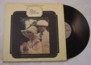 Mia Farrow The Great Gatsby Signed Autographed Original Motion Picture Soundtrack Lp Record Album with Vinyl Loa: Entertainment Collectibles