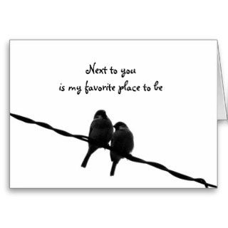 Next To You My Favorite Place Valentine's Day Greeting Card