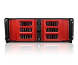 iStarUSA D 400L 7SE 4U High Performance Rackmount Chassis   Red (Power Supply Not Included) Computers & Accessories