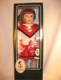 Geppeddo Porcelain Cheerleader Doll with Pom Poms Toys & Games