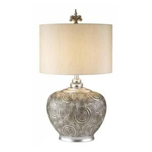 OK LIGHTING 29 in. Antique Brass Milleripple Collection Table Lamp OK 4227T