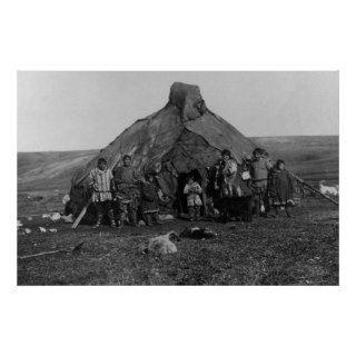 Eskimo Igloo Near Nome, Alaska Photograph Print