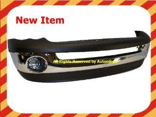 2002 2005 DODGE RAM 1500 PICKUP FRONT BUMPER CHROME WITH VALANCE FOG LIGHT NEW: Automotive