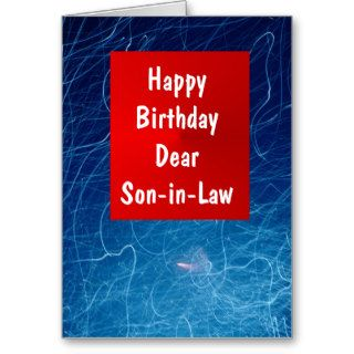 A Happy Birthday Son in Law Card Red