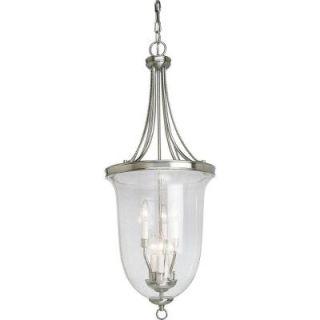 Progress Lighting Seeded Glass Collection 6 Light Brushed Nickel Foyer Pendant P3754 09