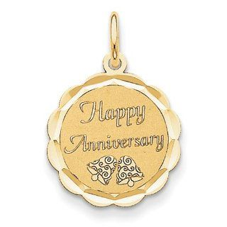 14K Happy Anniversary Charm: Jewelry