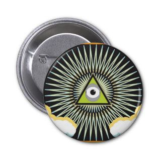 Illuminati All Seeing Eye NWO New World Order Button