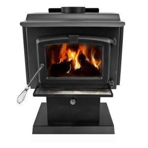 Pleasant Hearth 1,200 sq. ft. EPA Certified Wood Burning Stove with Blower, Small HWS 224172MH