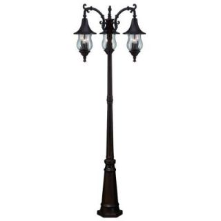 Acclaim Lighting Del Rio Collection 9 Light Outdoor Architectural Bronze Surface Mount Post Combination 3409ABZ